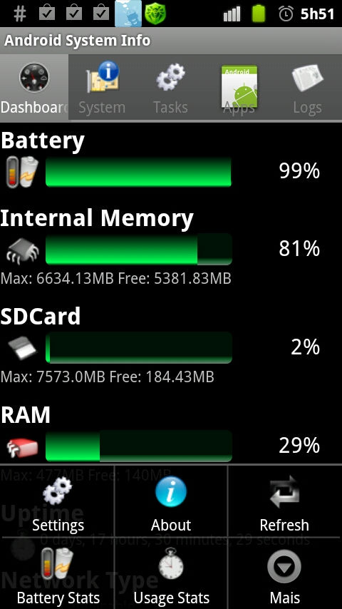 System Info Android