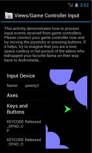 Android 4.0 controle videogame