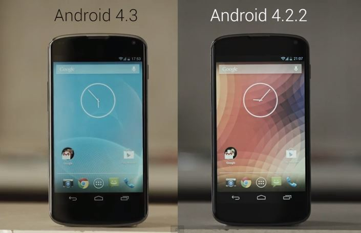 Android 4.3 vs Android 4.2.2