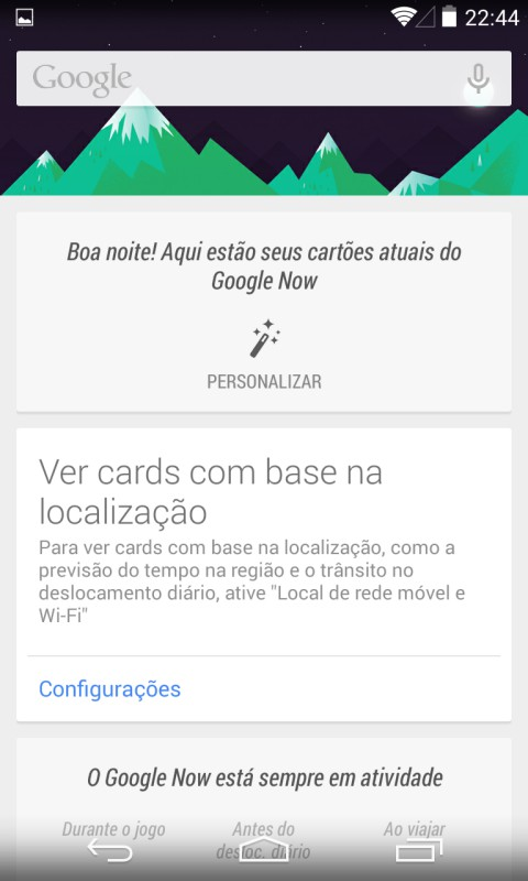Google Now Android 4.4