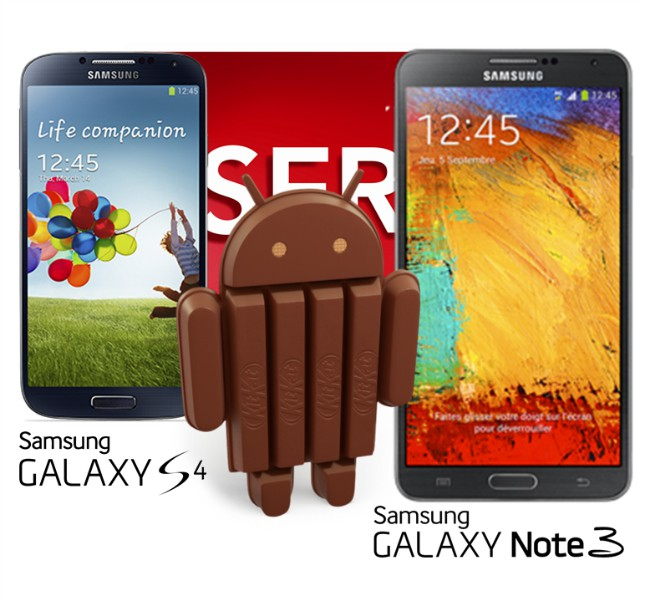 Galaxy S4 e Galaxy Note Android 4.4 SFR