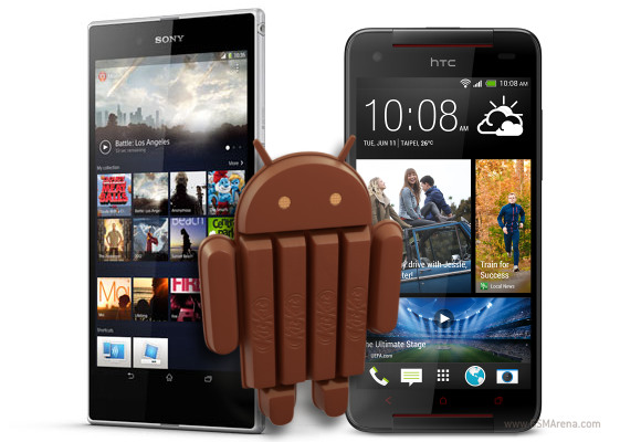 Xperia Ultra Z e HTC Butterfly Android 4.4