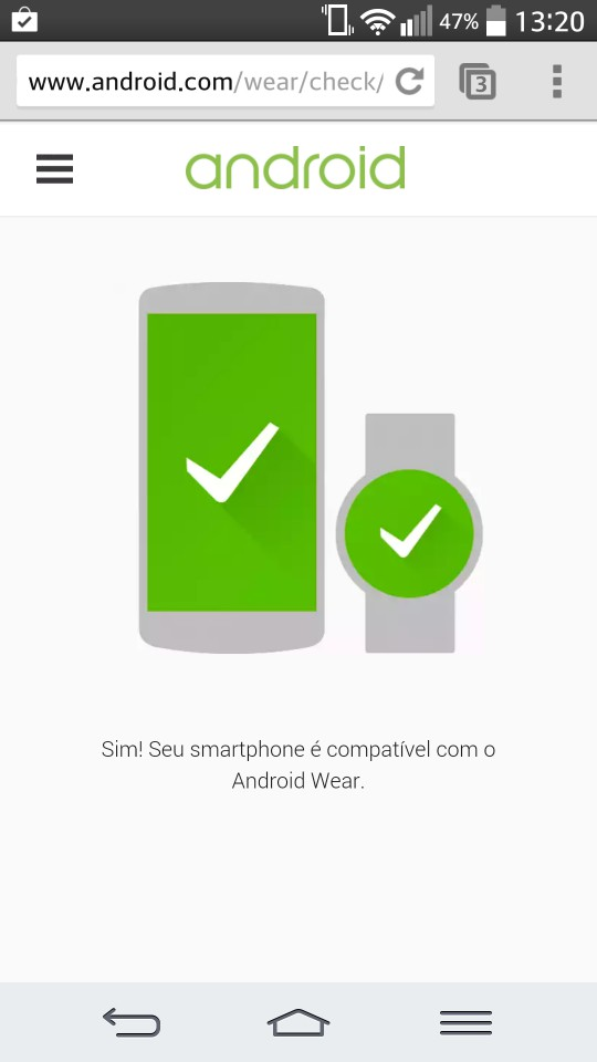 Android Wear compatibilidade