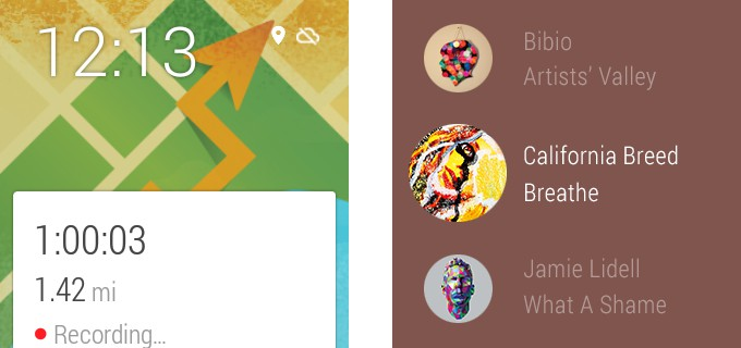Android Wear Play Music e GPS