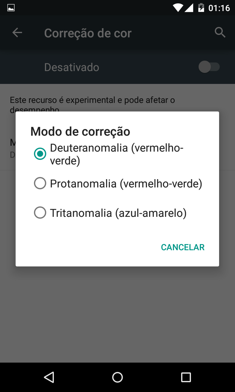 Android 5.0 Lollipop Acessibilidade