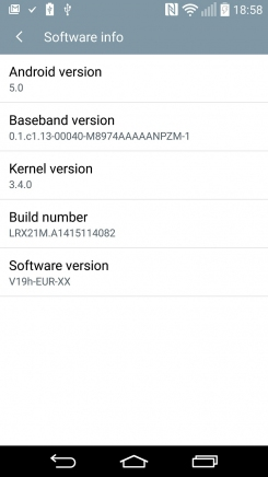 LG G3 Android Lollipop info