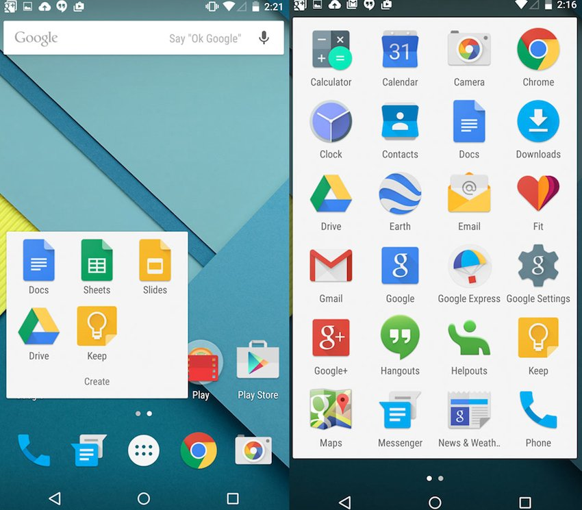 Material Design Android 5.0 Lollipop
