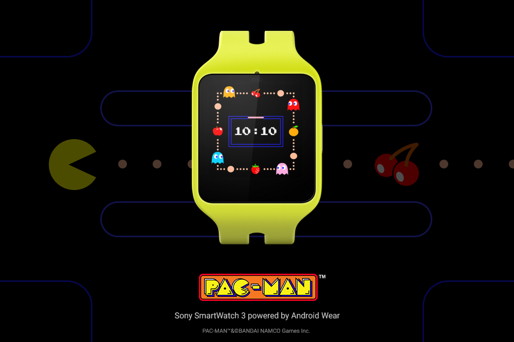 Pac-Man relógio Android Wear
