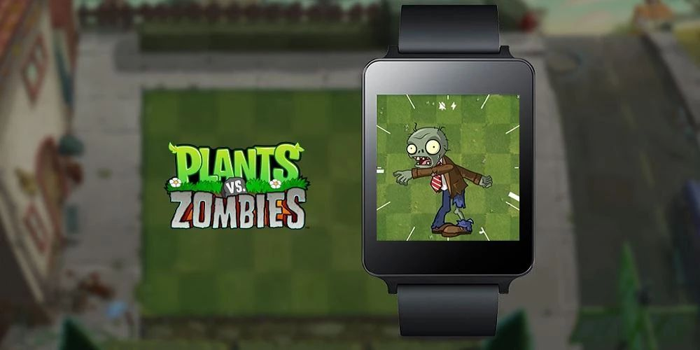 Plants vs Zombies relógio Android Wear