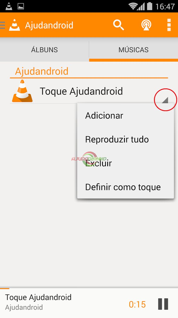 Toque Android VLC