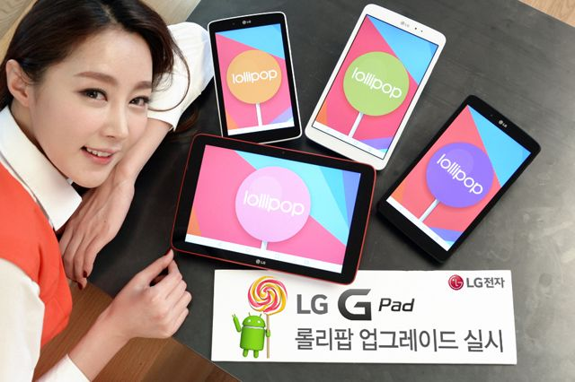 LG G Pad Android Lollipop