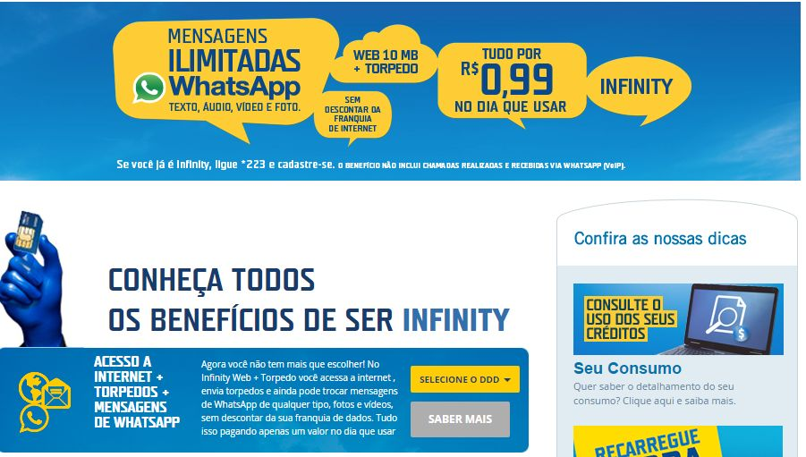 Tim Whatsapp ilimitado