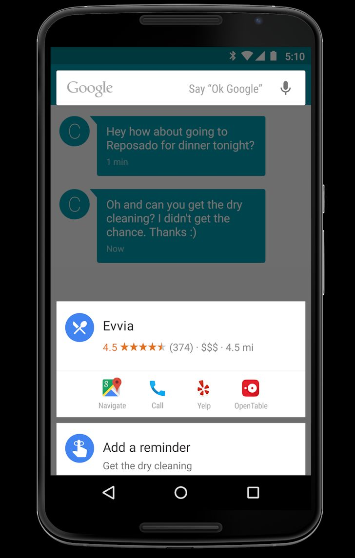 Android M Google Now on Tap