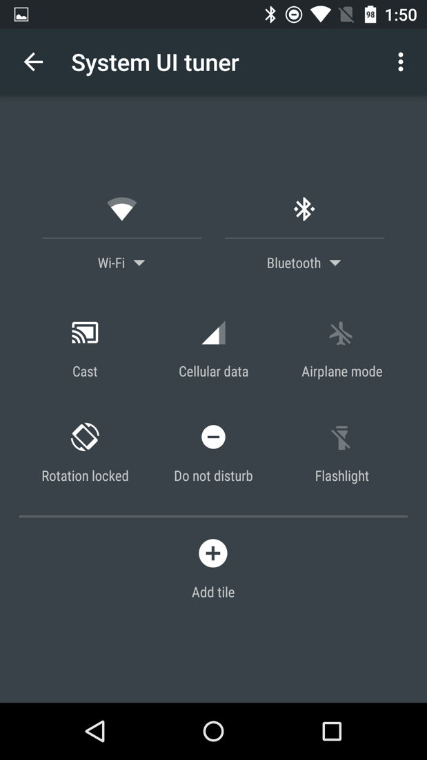 Android M System UI Tuner