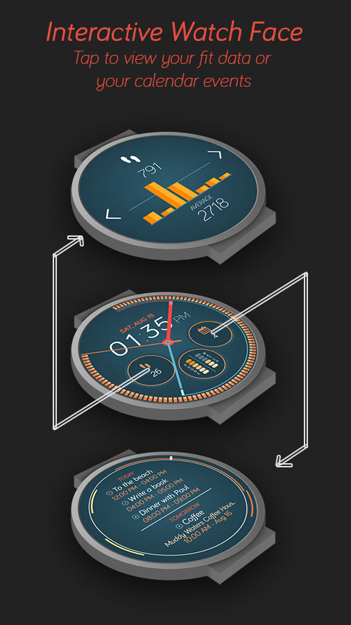 Android Wear face interativa