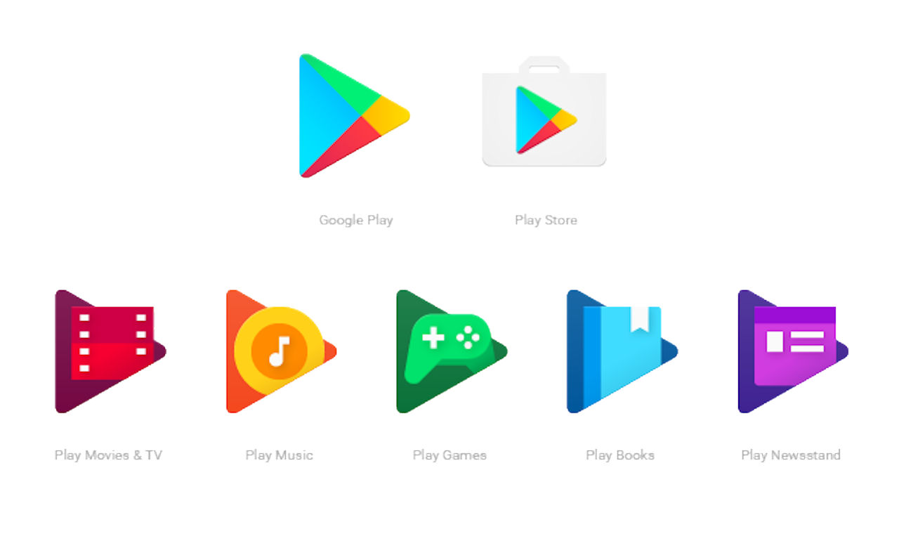 Google Play novos icones