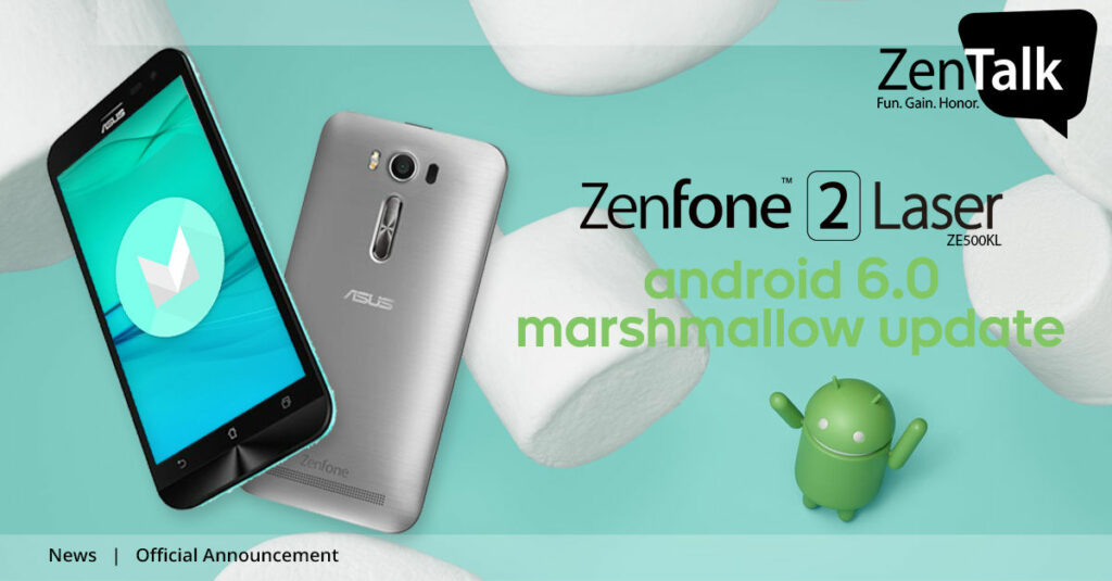 Android 6.0 Marshmallow para o Zenfone 2 Laser