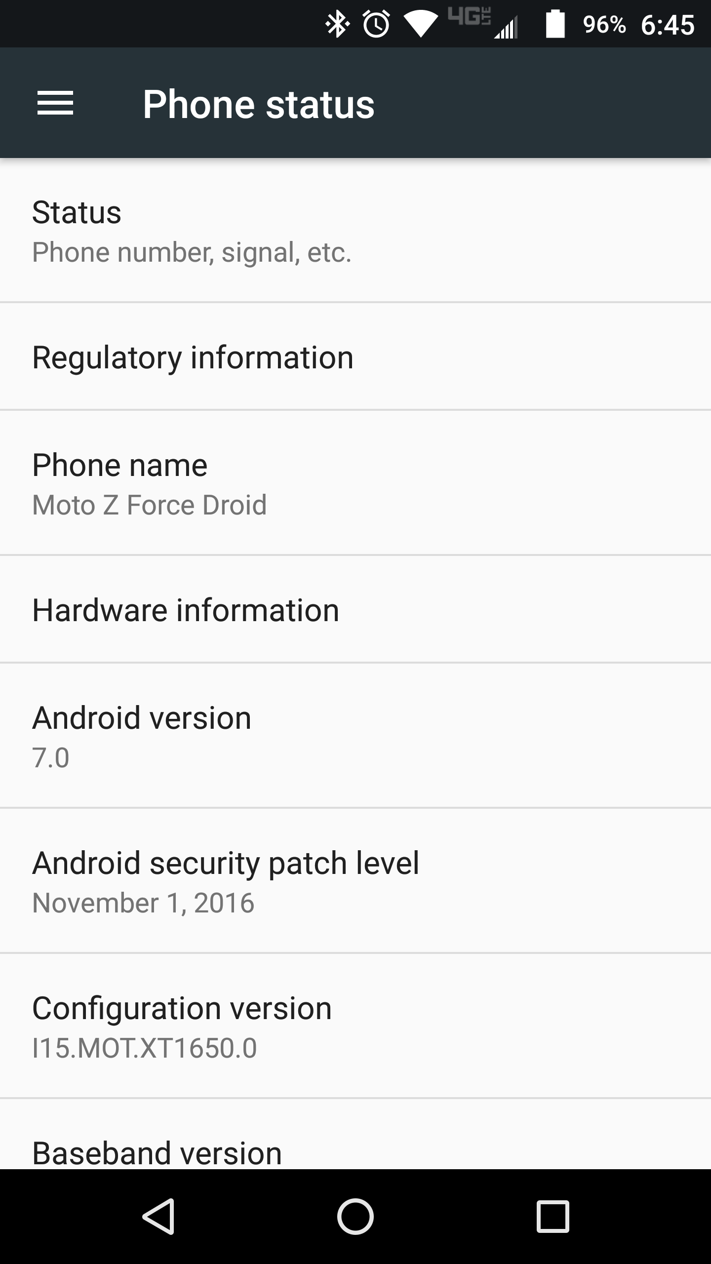 Moto Z Force Droid Android 7.0 Nougat