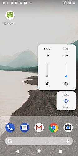 Android P volume