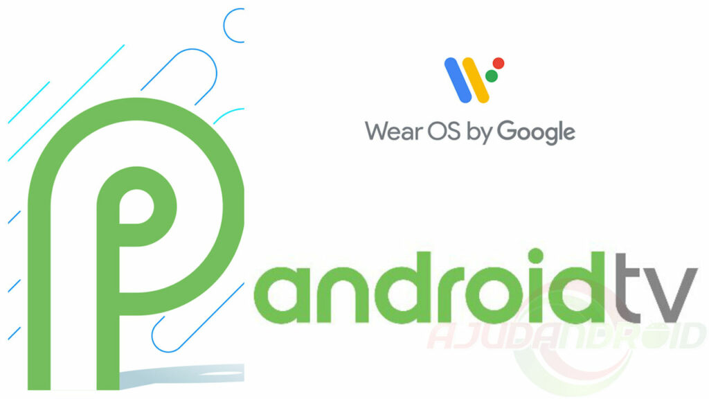 Wear OS, Android TV e Android P logo