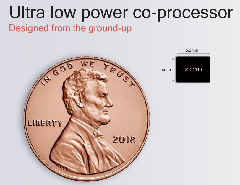 Snapdragon Wear 3100 Ultra-Low Power Coprocessador QCC1110