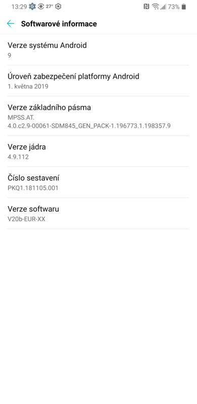 LG G7 Android 9 Pie
