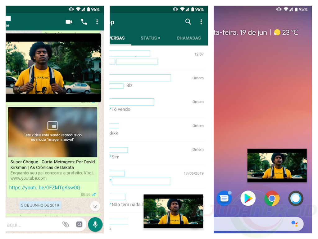 WhatsApp Beta Picture-in-Picture vídeos YouTube