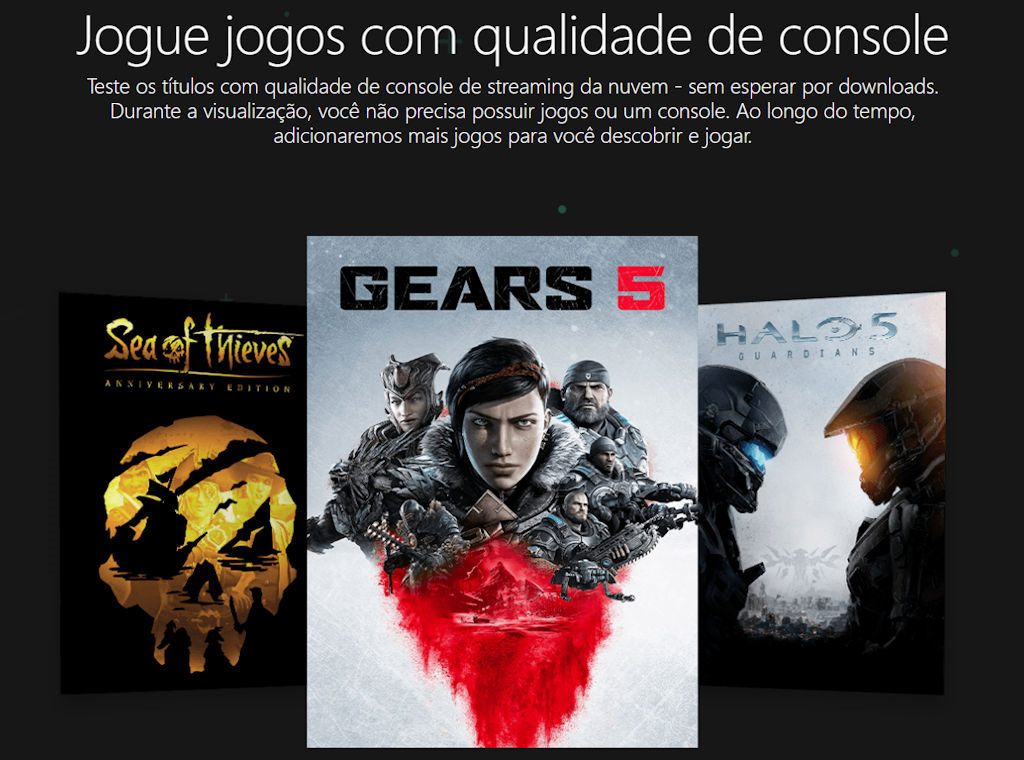 Project xCloud streaming de jogos Android