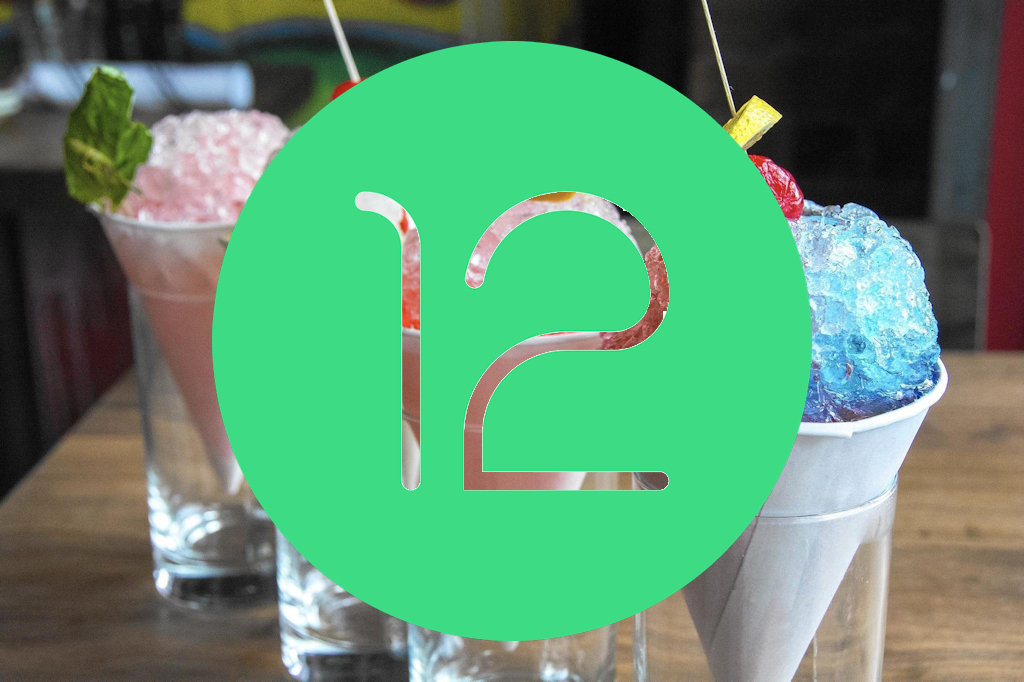Android 12 logo snow cone
