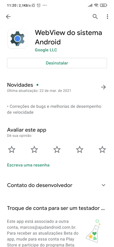 WebView do Sistema Android