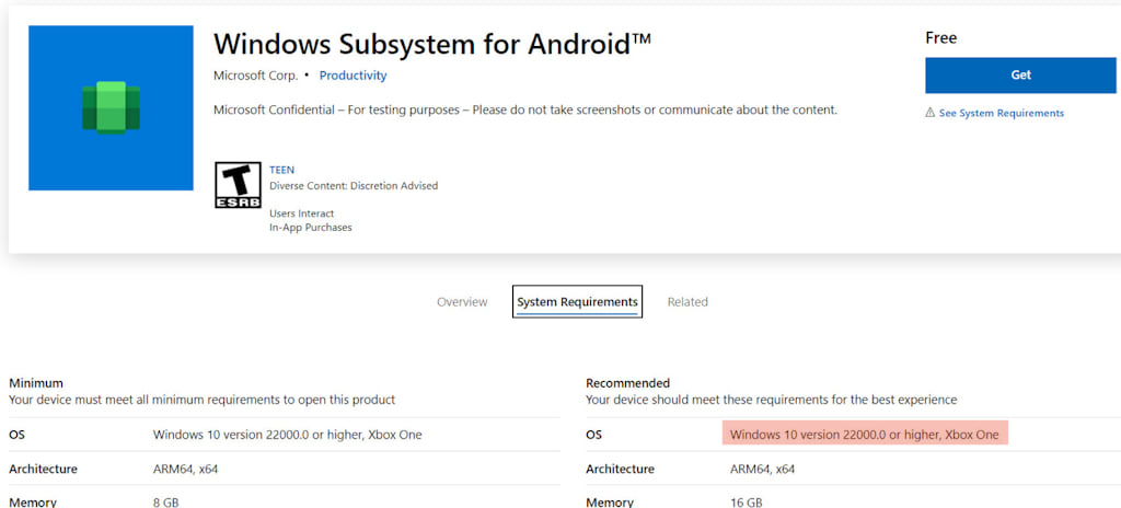 Windows Subsystem for Android
